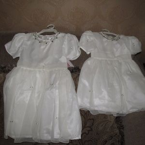 Gorgeous Fancy Girl Dress Size 4 and 7 White New